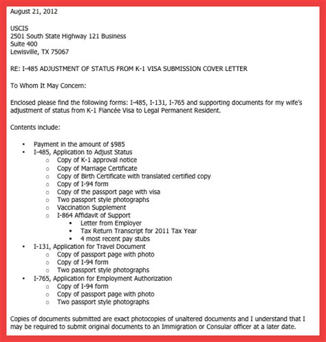 cover letter for i 485 i 129f cover letter sle memo exle