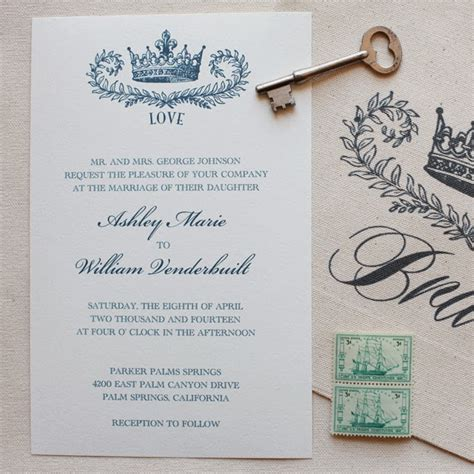 Paper Prince Wedding Invitations by Neutral Wedding Invitations