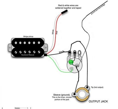 1 humbucker 1 volume 1 tone wiring diagram soap bar bass
