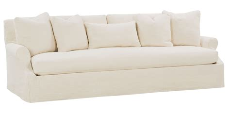slipcovered sofa slipcovered 3 lenghts select a size bench seat extra long