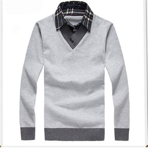 Sweater Cool high quality 2015 pullover shirt collar sweater new designer cool mens sweaters jumpers