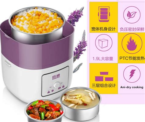 Cook Rice Cooker Mini 3 In 1 Bolde 3 layers stainless steel mini rice cooker multifunctional insulation in electric heating