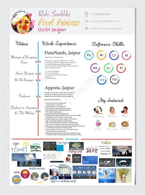 ux ui designer 2016 resume