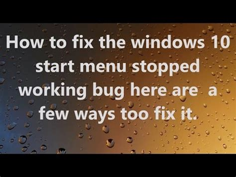 how to fix windows 10 start menu missing issue 3 best methods