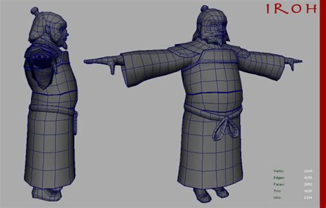 Blender Zuko iroh 3d model paul lombard
