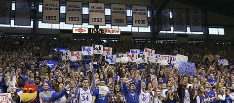 Big House Student Section by Basketball Notebook Allen Fieldhouse Vying For Title Of