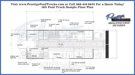 vehicle floor plan custom food truck floor plan sles prestige custom food truck manufacturer