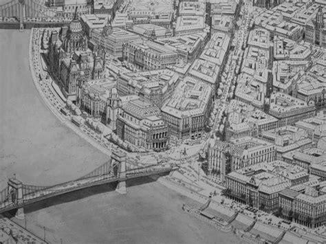 keren seniman ini gambar detail pemandangan kota hanya dengan memori