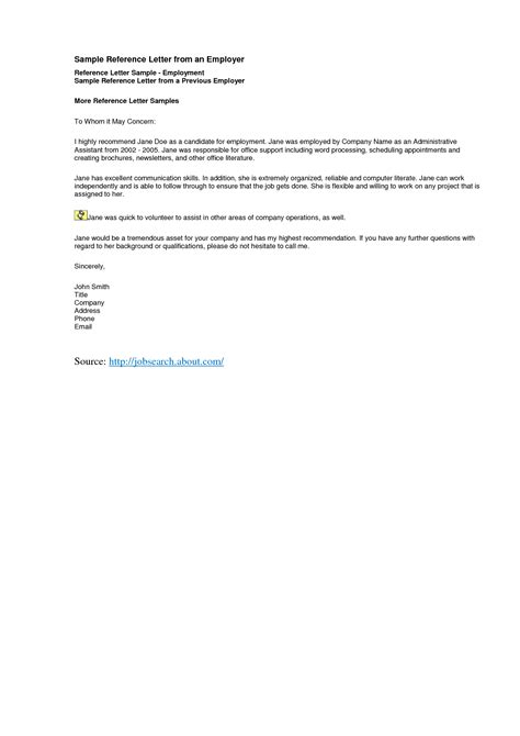 Letter Of Recommendation From Employer letter of recommendation for employer free invoice template
