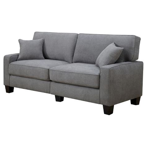 target couches furniture kona collection sofa gray serta target