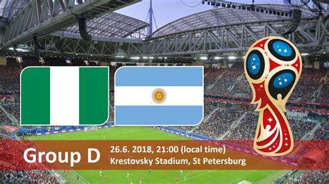 nigeria vs argentina fifa world cup 2018 betting