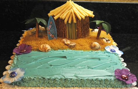 Tiki Hut Cake cakes ideas birthday luau birthday cakes luau cakes for cakes design hut cakes