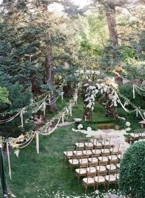 small backyard wedding ceremony 27 amazing backyard wedding ceremony decor ideas