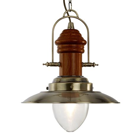 searchlight 3301ab fisherman ceiling pendant antique brass