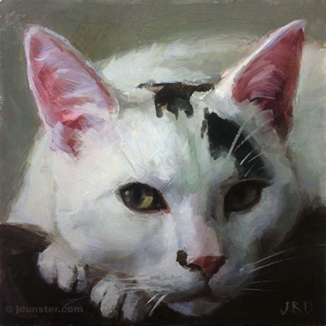white spot on nose with a black spot on his nose cat j dunster s painting