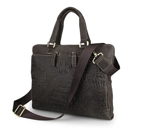 Handbag Import A1504138 New Arrival new arrival fashionable trend crocodile mens handbag laptop messenger briefcase ebay
