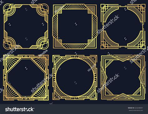 art deco design elements vector vintage art deco design elements old stock vector