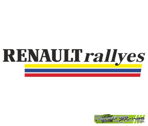 logo renault sport logo renault sport rallyes pegatinas de coches