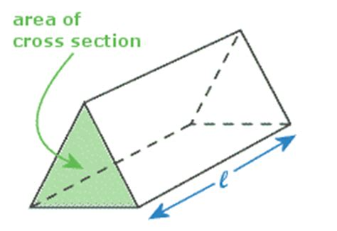 cross section of a triangular prism math scool students area g c s e homework hints