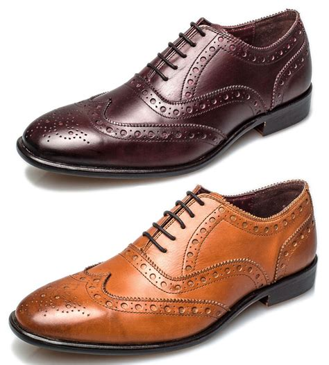 leather sole oxford shoes brogues mens leather sole bucanon brogue oxford