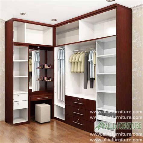 lemari pakaian minimalis model sudut max allia furniture
