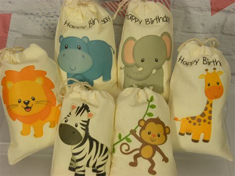 Jungle Animals Baby Shower by Jungle Animals Favor Bags Baby Shower Birthday Baby By