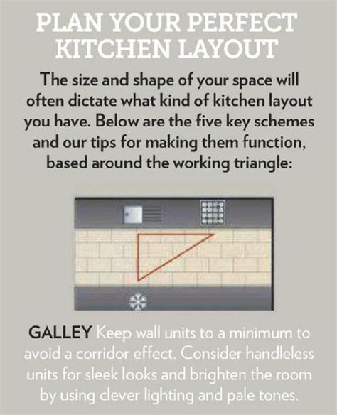 how to choose a kitchen layout based on the fridge oven read the full guide with kitchen showcases http www