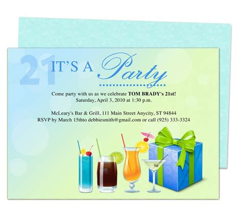 publisher invitation templates coolers 21st birthday invitation templates printable