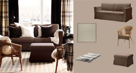 plaid living room furniture get country cozy sandby sofa and footstool agen rattan chair millinge low pile plaid rug
