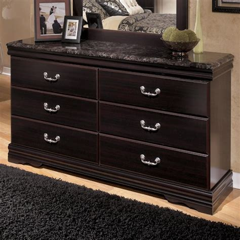marble top dresser bedroom set signature design by ashley esmarelda 6 drawer dresser with faux marble top rotmans dresser