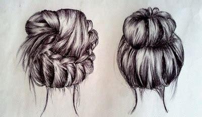 bun hairstyles drawing art braid bun drawing image 775709 on favim com