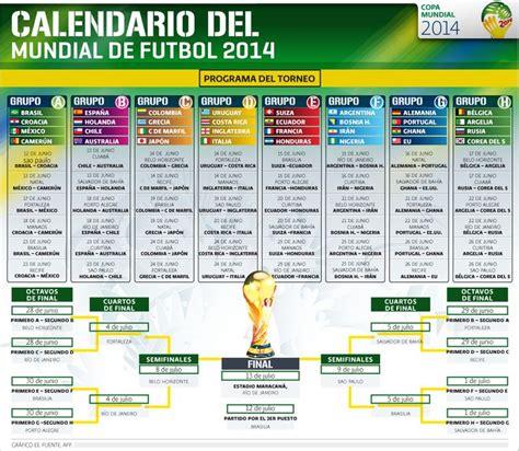 calendario del 2014 calendario del mundial de futbol 2014 el economista http
