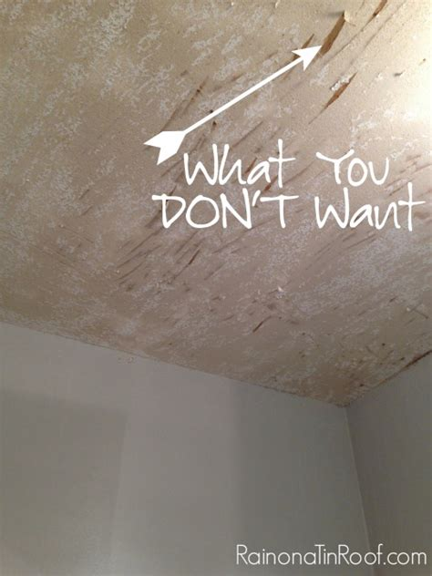 How To Remove Popcorn From Ceiling by How And How Not To Remove Popcorn Ceilings