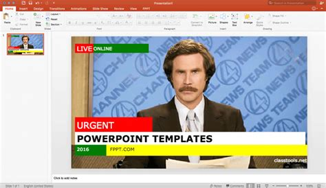 show template powerpoint using a free breaking news generator to make an engaging