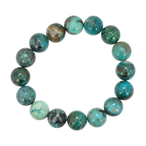 12mm chrysocolla gemstone energy bracelet 7 inch length