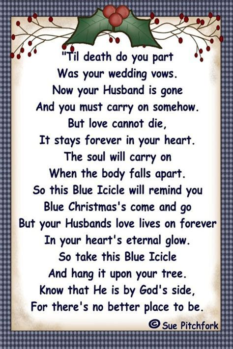 A blue Icicle in memory of my Husband Christmas by llister