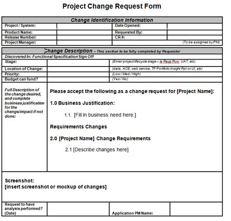 project scope change template untitled document www umsl edu