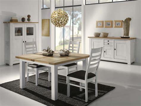 salle a manger en chene blanchi table carr 233 e pieds en ch 234 ne blanchi meubles turone