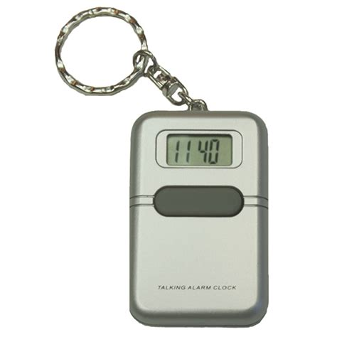 talking alarm clock keychain vision forward