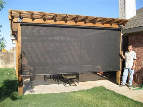 Patio Shade Ideas Black Curtain Interieur Huis