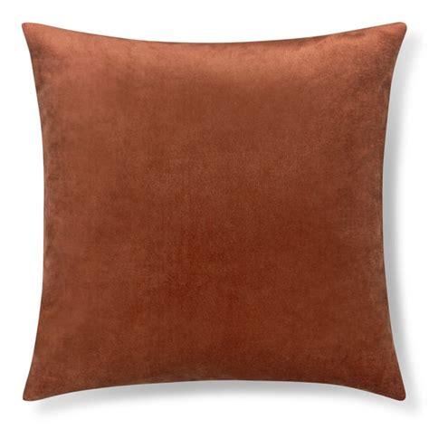 velvet pillow cover terracotta williams sonoma