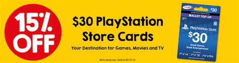 Adrenalin Gift Card Woolworths - 15 off playstation store 30 gift cards 25 50 7 eleven ozbargain