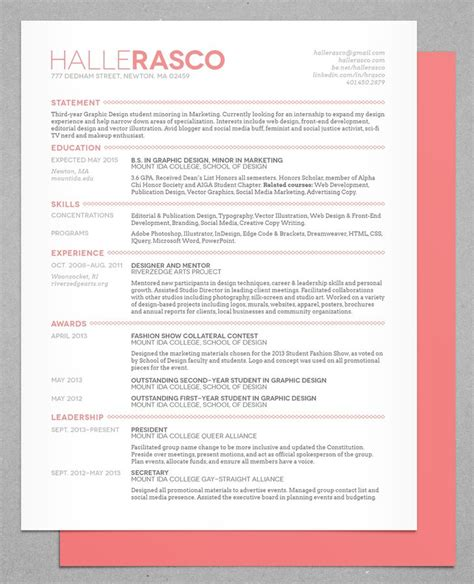 cv header design 50 inspiring resume designs and what you can learn from