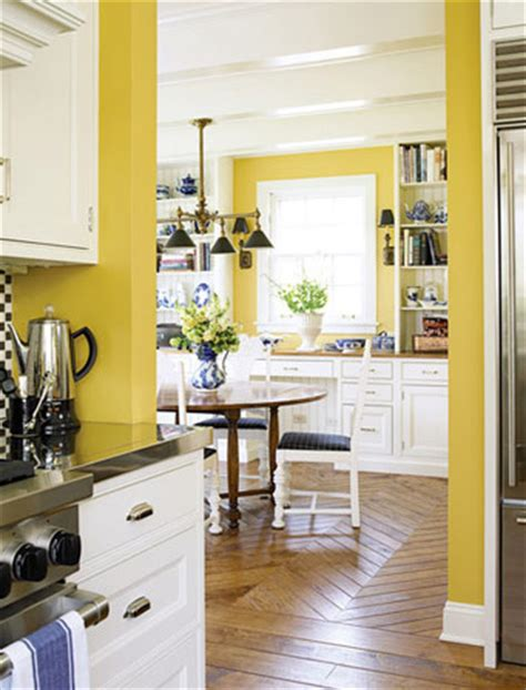 inspired by yellow kitchen walls the