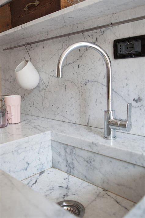 intimate cozy kitchens carrara marble house design decor