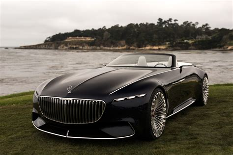 mercedes maybach mercedes maybach volkswagen rimac at the 2017 pebble