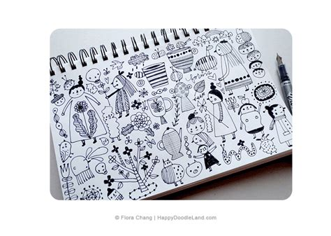 9 x 9 sketchbook sketchbook flora chang happy doodle land