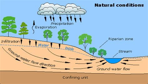 how is the water table where i live groundwater flow and effects of pumping