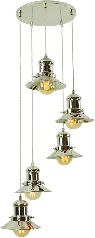 Period Pendant Lighting Small Edison Period 5 Light Multi Level Pendant Nickel 1900 1 C5 N