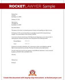 Letter Of Agreement For Money Owed Demand Letter For Money Owed With Sle